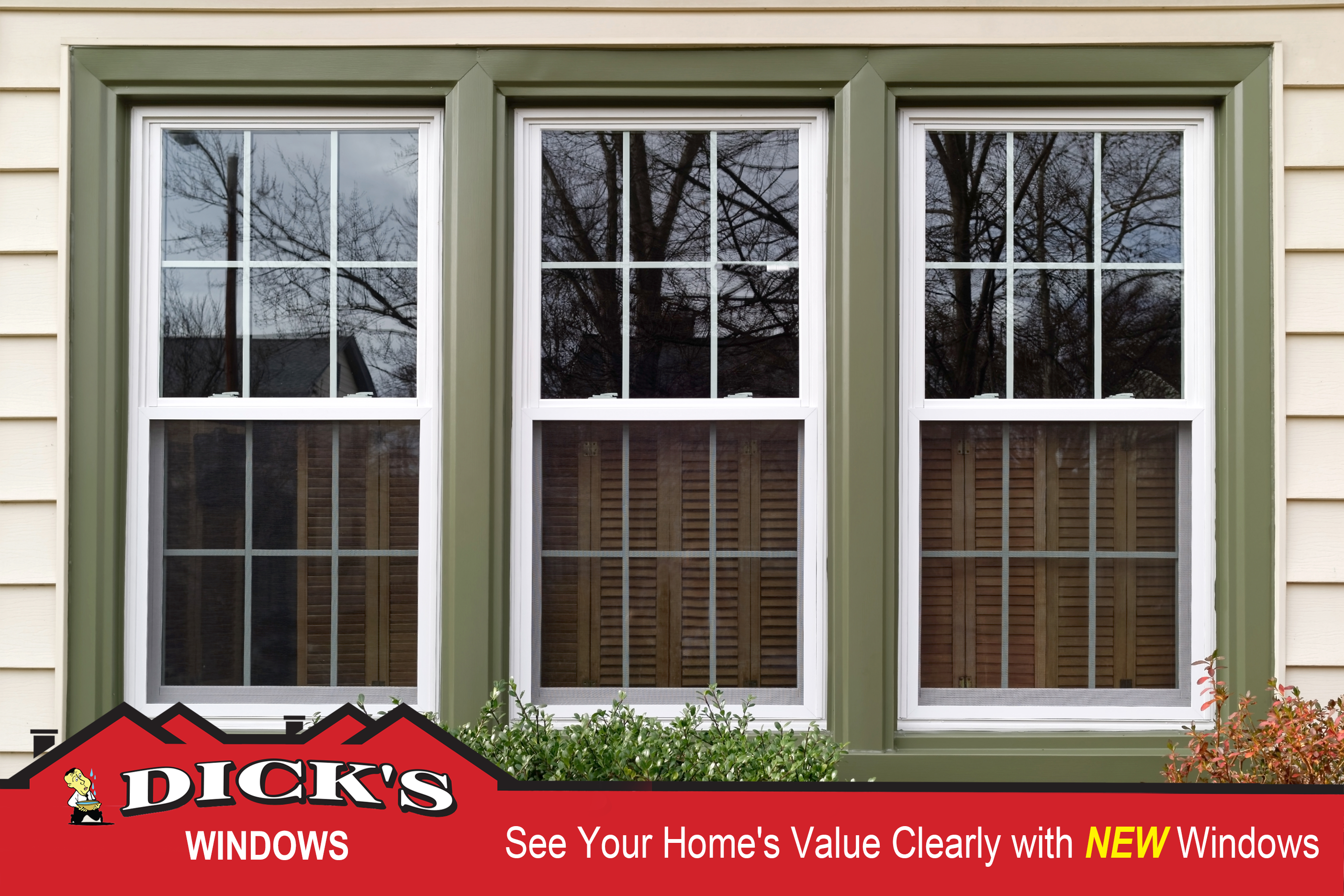 See Your Home's Value Clearly with New Windows from Dick's Roof Repair