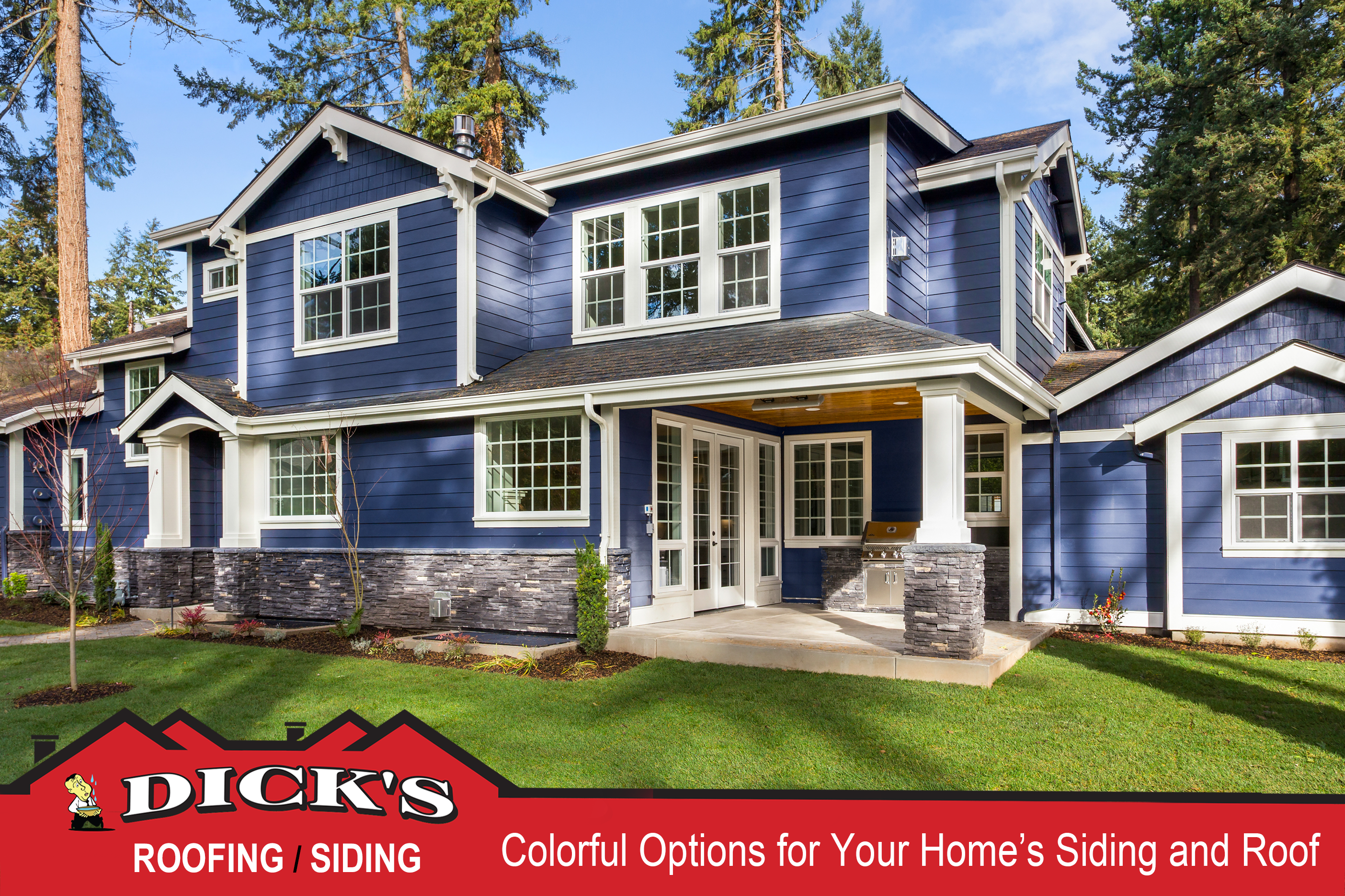 Colorful siding | Dick's Roofing