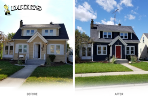 Siding Before and After | Dicks Roofing